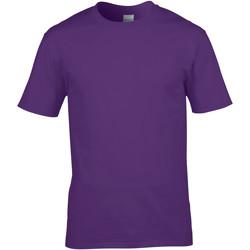 Textiel Heren T-shirts korte mouwen Gildan Premium Paars