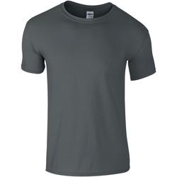 Textiel Heren T-shirts korte mouwen Gildan Soft-Style Houtskool