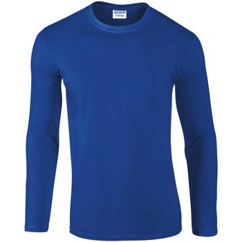 Textiel Heren T-shirts met lange mouwen Gildan Soft Style Koninklijk