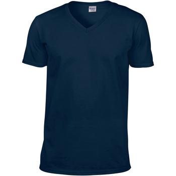 Textiel Heren T-shirts korte mouwen Gildan Soft Style Marine