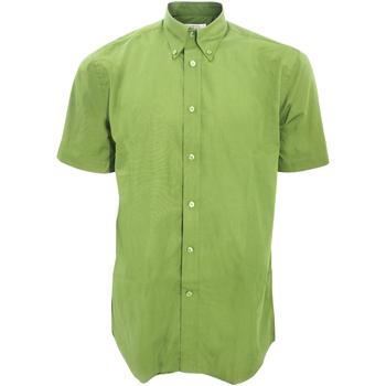 Textiel Heren Overhemden korte mouwen Kustom Kit Work Kalk