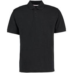 Textiel Heren Polo's korte mouwen Kustom Kit Klassic Zwart