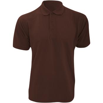 Textiel Heren Polo's korte mouwen Kustom Kit Klassic Chocolade