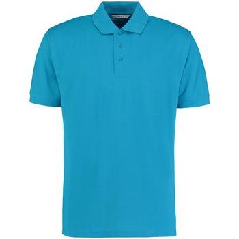 Textiel Heren Polo's korte mouwen Kustom Kit Klassic Turquoise
