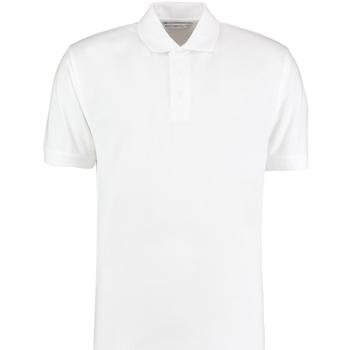 Textiel Heren Polo's korte mouwen Kustom Kit Klassic Wit