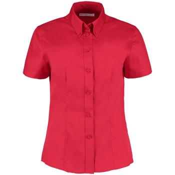 Textiel Dames Overhemden Kustom Kit Oxford Rood