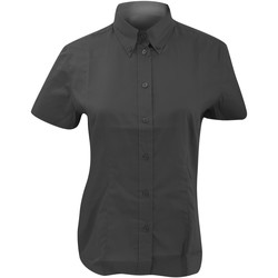 Textiel Dames Overhemden Kustom Kit Oxford Houtskool