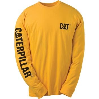 Textiel Heren T-shirts met lange mouwen Caterpillar TRADEMARK Geel