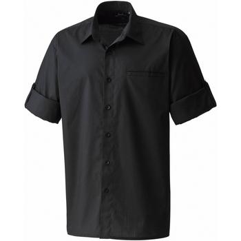 Textiel Heren Overhemden korte mouwen Premier Poplin Zwart