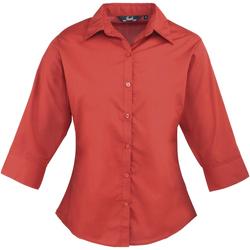 Textiel Dames Overhemden Premier Poplin Rood