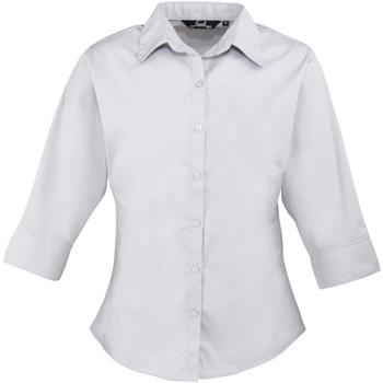 Textiel Dames Overhemden Premier Poplin Zilver