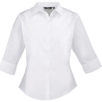 Textiel Dames Overhemden Premier Poplin Wit