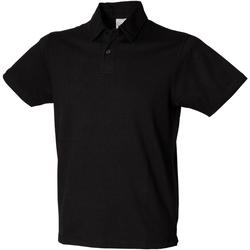 Textiel Heren Polo's korte mouwen Skinni Fit Stretch Zwart