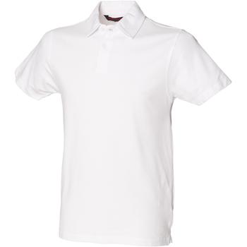 Textiel Heren Polo's korte mouwen Skinni Fit Stretch Wit