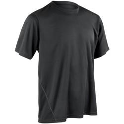 Textiel Heren T-shirts korte mouwen Spiro Performance Zwart