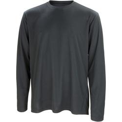 Textiel Heren T-shirts met lange mouwen Spiro Performance Zwart