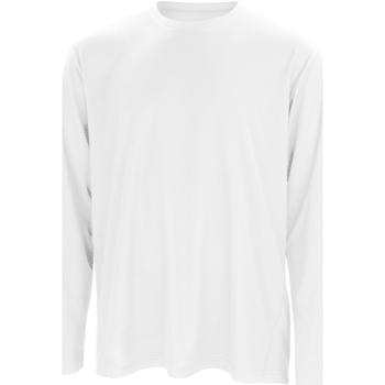 Textiel Heren T-shirts met lange mouwen Spiro Performance Wit