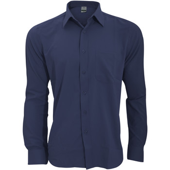 Textiel Heren Overhemden lange mouwen Henbury HB590 Marine