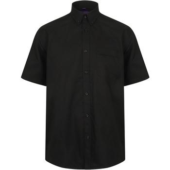 Textiel Heren Overhemden korte mouwen Henbury HB595 Zwart