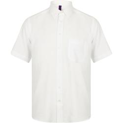 Textiel Heren Overhemden korte mouwen Henbury HB595 Wit