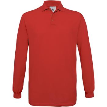 Textiel Heren Polo's lange mouwen B And C Safran Rood