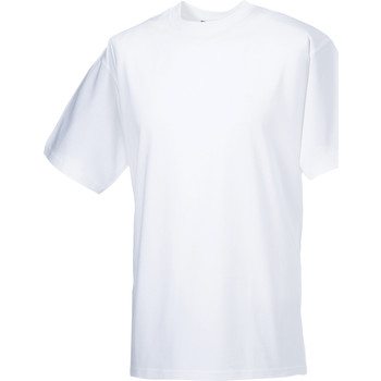 Textiel Heren T-shirts korte mouwen Russell Classics Wit