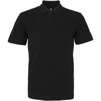 Textiel Heren Polo's korte mouwen Asquith & Fox AQ010 Zwart