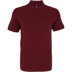 Textiel Heren Polo's korte mouwen Asquith & Fox AQ010 Bourgondië