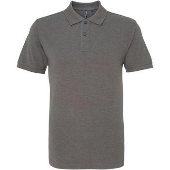 Textiel Heren Polo's korte mouwen Asquith & Fox AQ010 Houtskool