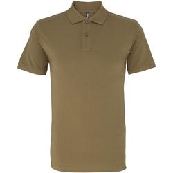 Textiel Heren Polo's korte mouwen Asquith & Fox AQ010 Khaki