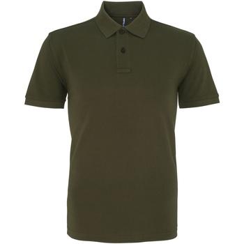 Textiel Heren Polo's korte mouwen Asquith & Fox AQ010 Olijf