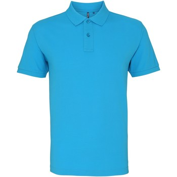 Textiel Heren Polo's korte mouwen Asquith & Fox AQ010 Turquoise