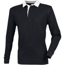 Textiel Heren Polo's lange mouwen Front Row Premium Zwart