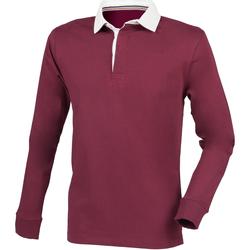 Textiel Heren Polo's lange mouwen Front Row Premium Bourgondië