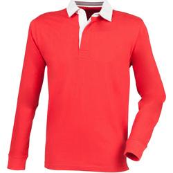 Textiel Heren Polo's lange mouwen Front Row Premium Rood