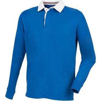 Textiel Heren Polo's lange mouwen Front Row Premium Koninklijk