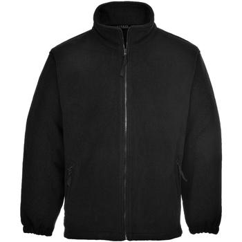 Textiel Heren Fleece Portwest Aran Zwart