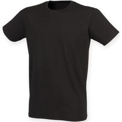 Textiel Heren T-shirts korte mouwen Skinni Fit Stretch Zwart