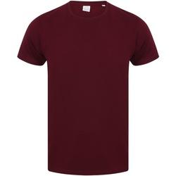 Textiel Heren T-shirts korte mouwen Skinni Fit Stretch Bourgondië