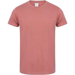 Textiel Heren T-shirts korte mouwen Skinni Fit Stretch Klei