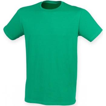 Textiel Heren T-shirts korte mouwen Skinni Fit Stretch Groen