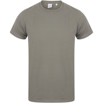 Textiel Heren T-shirts korte mouwen Skinni Fit Stretch Khaki