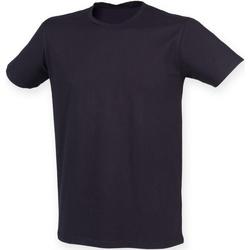 Textiel Heren T-shirts korte mouwen Skinni Fit Stretch Marine