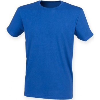 Textiel Heren T-shirts korte mouwen Skinni Fit Stretch Koninklijk