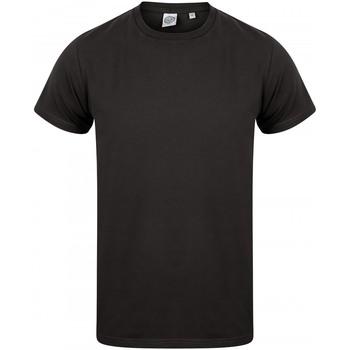 Textiel Heren T-shirts korte mouwen Skinni Fit SF122 Zwart
