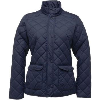 Textiel Dames Dons gevoerde jassen Regatta RG067 Marine