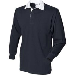 Textiel Heren Polo's lange mouwen Front Row Rugby Zwart