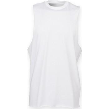 Textiel Heren Mouwloze tops Skinni Fit SF232 Wit