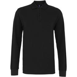 Textiel Heren Polo's lange mouwen Asquith & Fox AQ030 Zwart