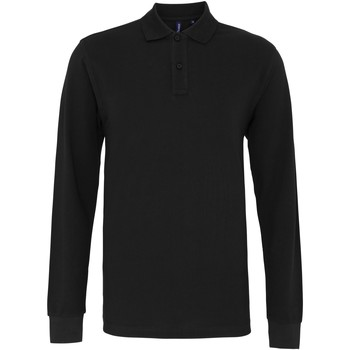 Textiel Heren Polo's lange mouwen Asquith & Fox Classic Zwart